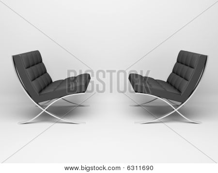 3D render. Two couches isolated on white background. poster
