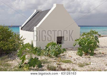 Historic slave huts, Bonaire, ABC Islands, Caribbean poster