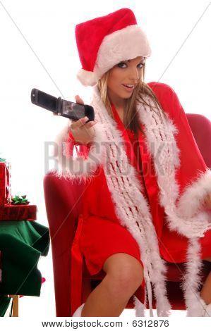 sexy Frau Santa-Handy