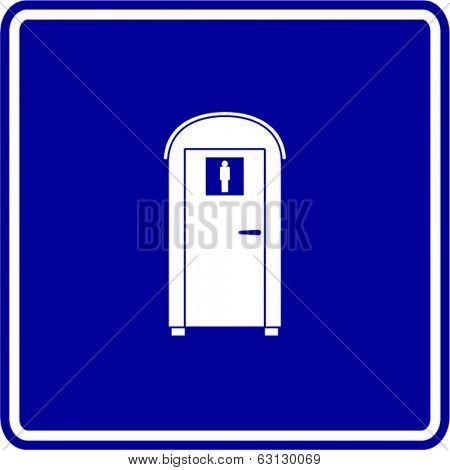 portable bathroom sign