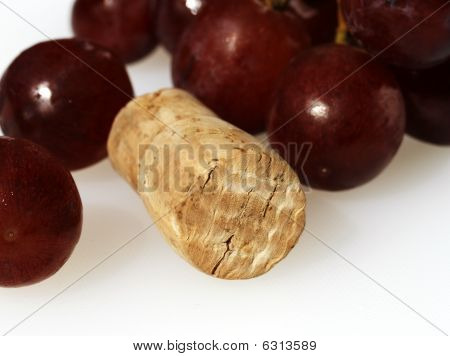 Red Grapes And Cork The One