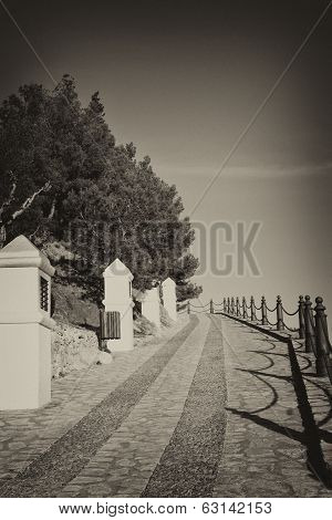 Via Crucis In Old Black And White