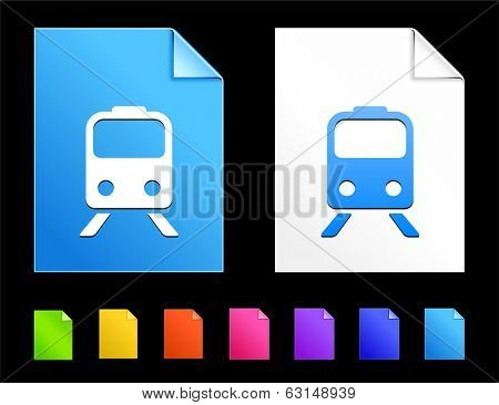 Subways Icons on Colorful Paper Document Collection poster