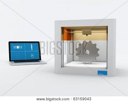 3d printer, printing gear