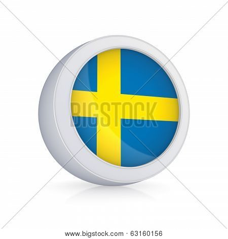 Icon with flag of Sweeden.