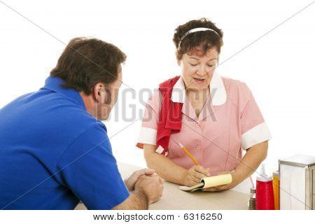 Waitress Takes Customer Order