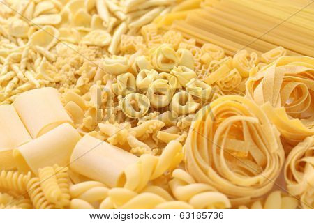 pasta assortment, italian food image