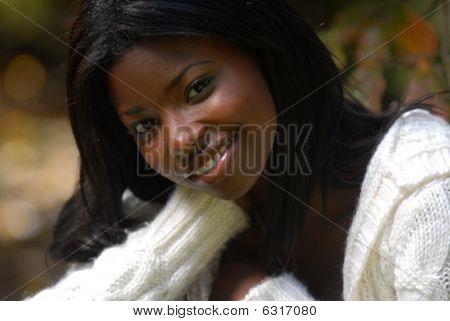African-american Woman beautiful smile