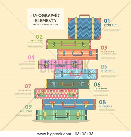 modern vector illustration travel suitcase infographics design poster