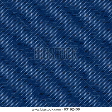 Indigo denim pattern including seamless sample in swatch panel poster
