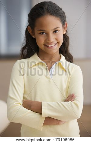 Young girl smiling for the camera