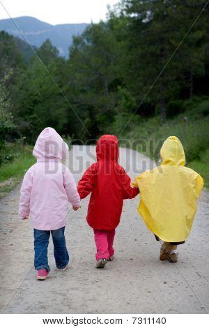 Children Going For A Walk