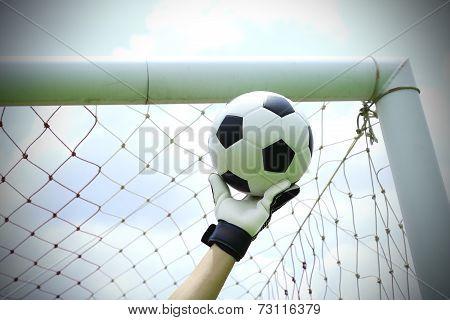Soccer Goalkeeper Hands Save