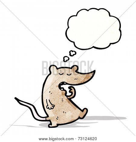 yawning mouse cartoon