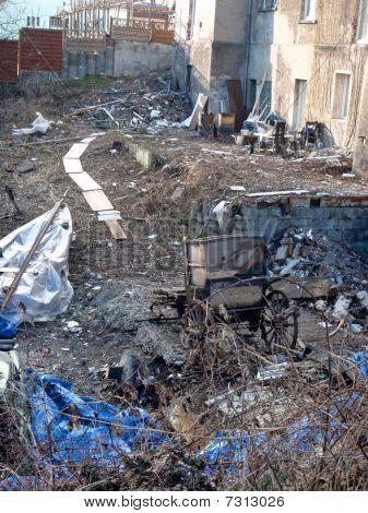 Construction site debris