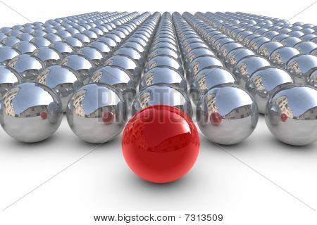 Líder rojo esfera con esferas de Chrom
