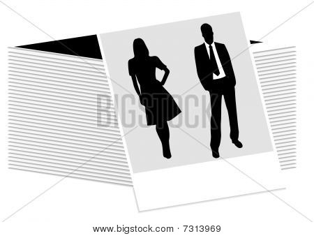 Illustration of a photo with business people