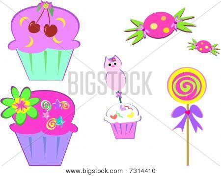 Here is a variety of sweets to enjoy. poster