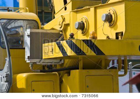 Mobile Crane Close-up At Construction Site
