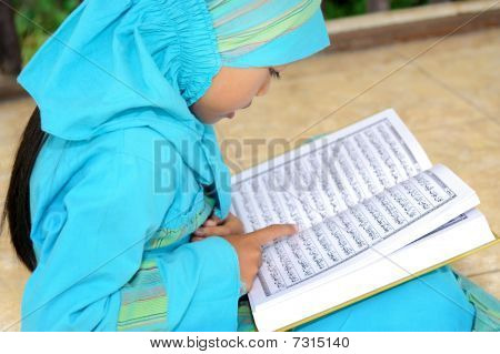 Girl Reading Koran