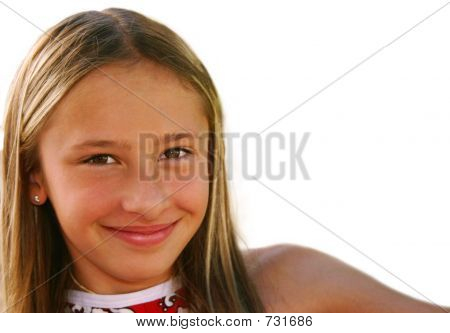 Close Up Of Young Girl