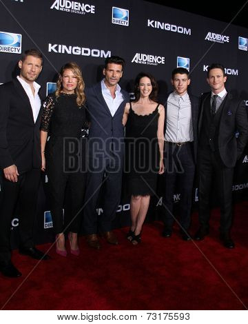 LOS ANGELES - OCT 1:  Nick Jonas, Joanna Going, Matt Lauria, Kiele Sanchez, Frank Grillo and Jonathan Tucker at the