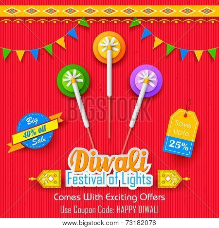 illustration of Happy Diwali Background for advertisement and promotion poster