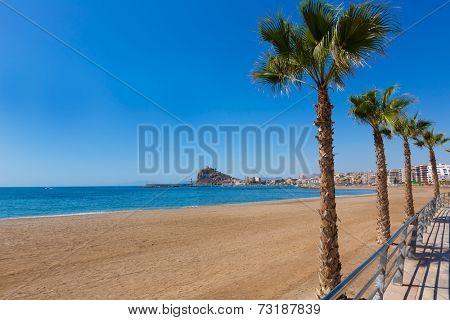 Aguilas beach Murcia Levante bay at Mediterranean sea of Spain