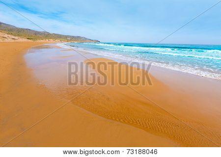 Calblanque beach Park near La Manga Mar Menor in Murcia Spain