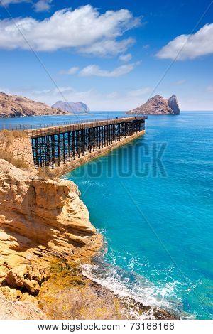 Aguilas Embarcadero del Hornillo pier Murcia in Mediterranean Spain poster