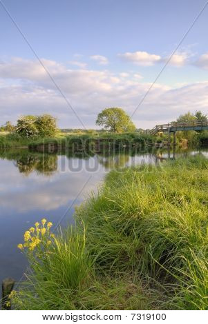 Evening Light River Stour, Eyebridge