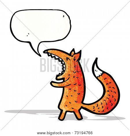cartoon yawning fox