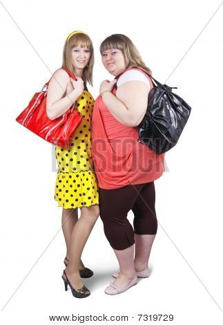 Casual Girls With Handbags