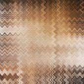 art abstract colorful zigzag geometric pattern background in beige, white, orange, grey and brown colors poster