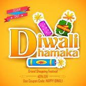 illustration of Diwali Dhamaka (Diwali Offer) for promotion and advertisment poster