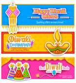illustration of Diwali banner for promotion and advertisement poster