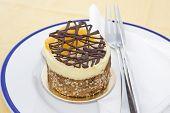 Small fruit tart dessert on a plate poster