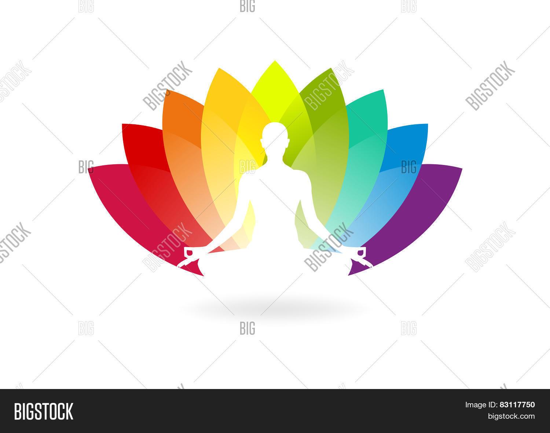 yoga logo vector photo free trial bigstock yoga logo vector photo free trial