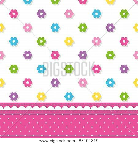 flowers pattern border