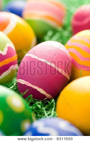 Rough Stroked Easter Eggs
