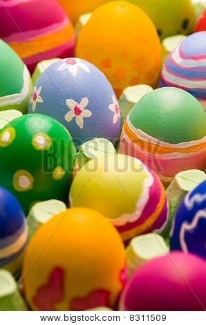 Easter Eggs In A Big Box