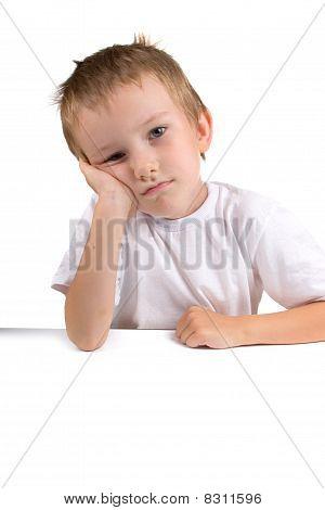 Portrait Of A Boy On A White Background