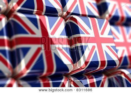 Union Jack cubes