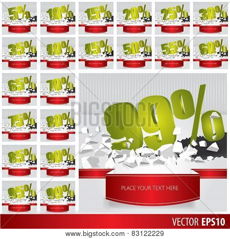 Green Collection Discount  5  10 15 20 25 30 35 40 45 50 55 60 65 70 75 80 85 90 95 99  Percent  On