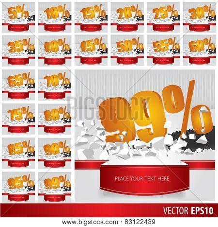 Gold Collection Discount  5  10 15 20 25 30 35 40 45 50 55 60 65 70 75 80 85 90 95 99  Percent  On V