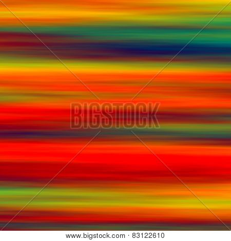 Colorful horizontal abstract art background. Artistic red green blue yellow smudged watercolor.