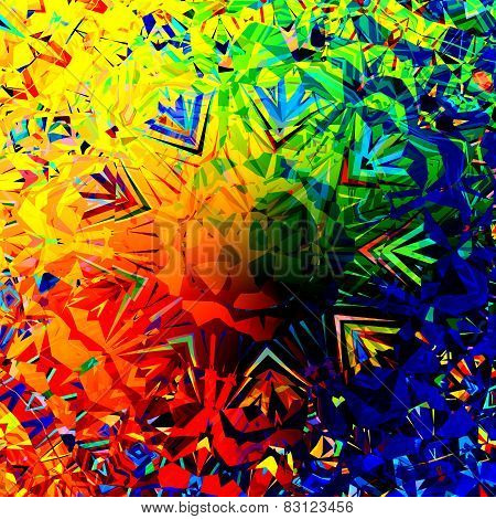 Colorful digital abstract grunge background. Digitally generated image. Creative art.