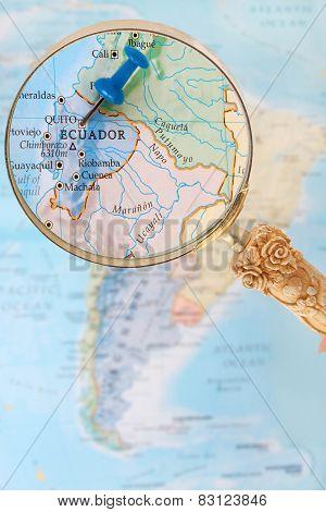 Looking In On Quito Ecuador, South America