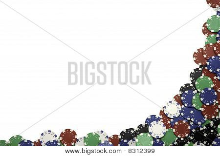 Gambling Chip Border With Clipping Path