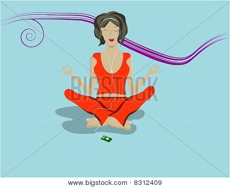 meditating person, woman